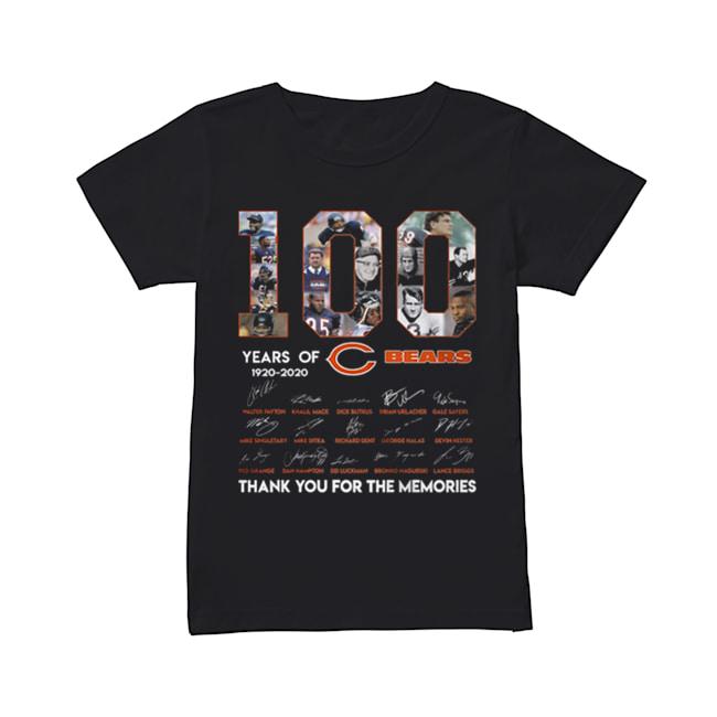 100 years of 1920-2020 Chicago Bears signatures  Classic Women's T-shirt