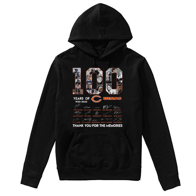 100 years of 1920-2020 Chicago Bears signatures  Unisex Hoodie