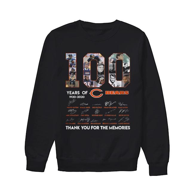 100 years of 1920-2020 Chicago Bears signatures  Unisex Sweatshirt