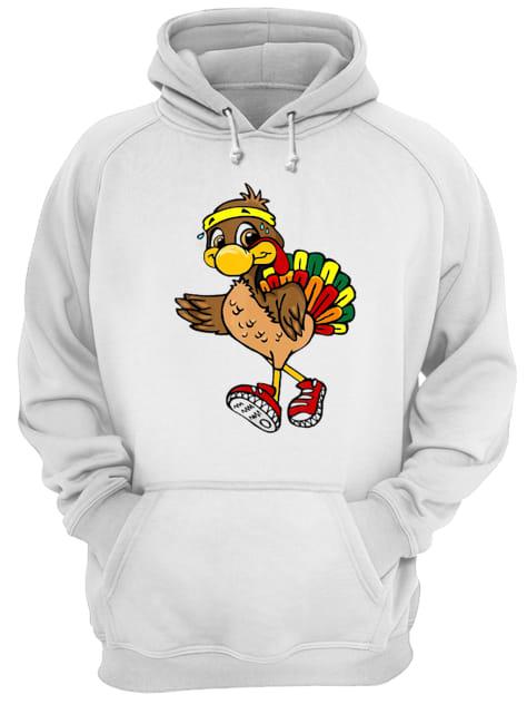 5k Turkey Trot Squad Pilgrim Thanksgiving Running  Unisex Hoodie
