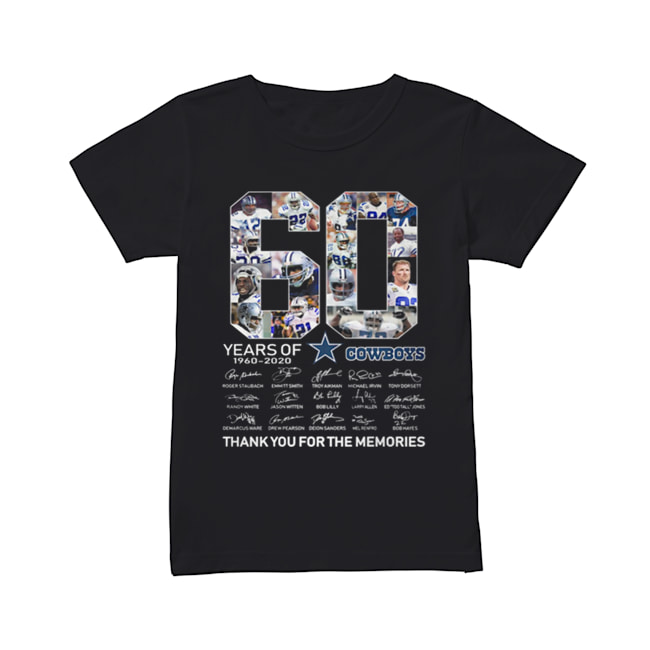 60 Years Of Dallas Cowboys 1960-2020 signatures  Classic Women's T-shirt