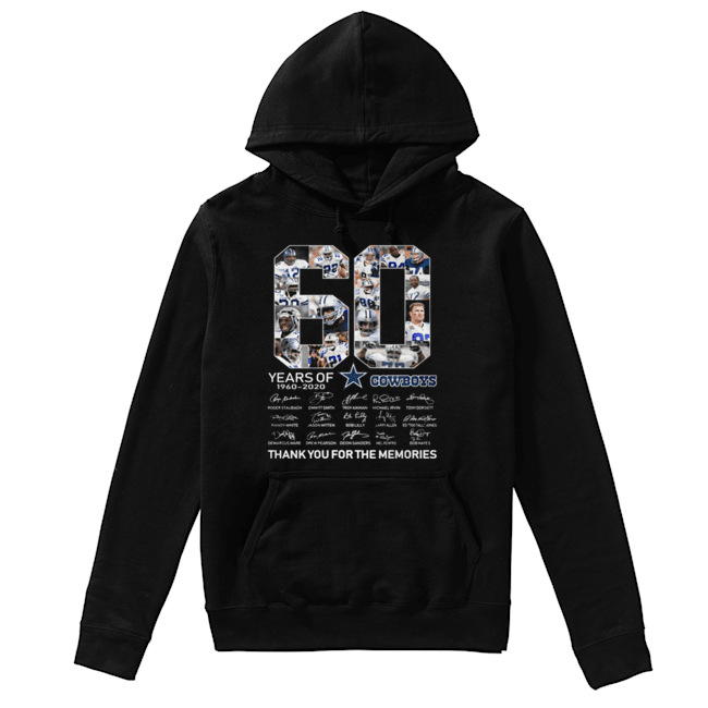 60 Years Of Dallas Cowboys 1960-2020 signatures  Unisex Hoodie