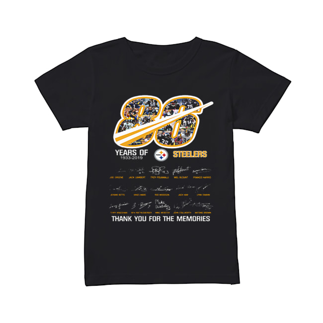 86 years of 1933-2019 Steelers thank you for the memories  Classic Women's T-shirt