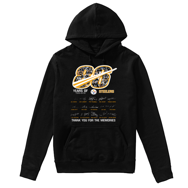 86 years of 1933-2019 Steelers thank you for the memories  Unisex Hoodie