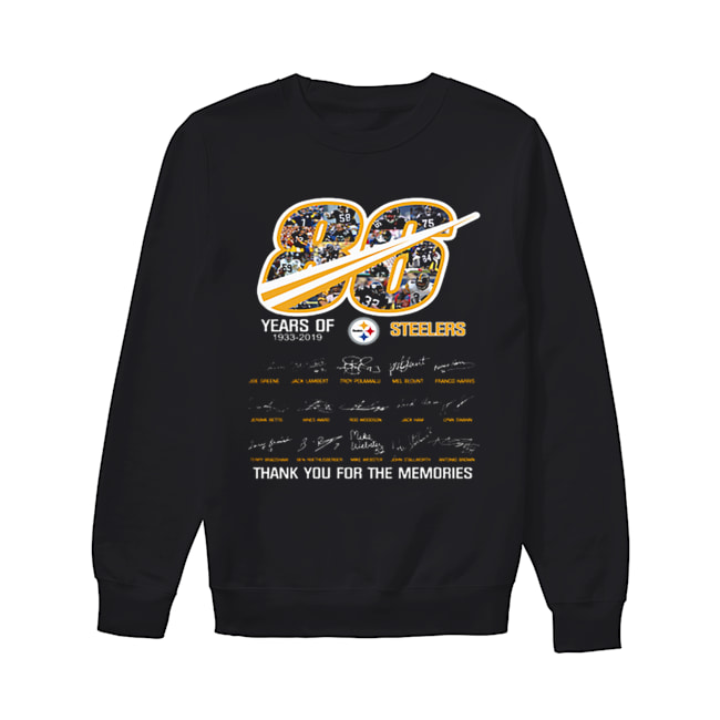 86 years of 1933-2019 Steelers thank you for the memories  Unisex Sweatshirt