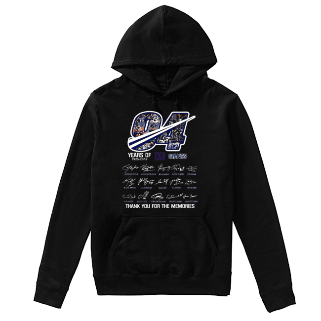 94 Years Of New York Giants 1925-2019 thank you for the memories  Unisex Hoodie