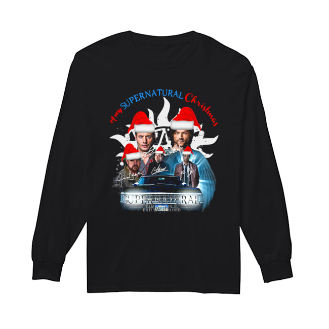 A Very Supernatural Christmas Signatures  Long Sleeved T-shirt