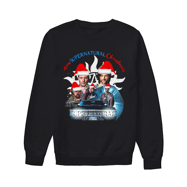 A Very Supernatural Christmas Signatures  Unisex Sweatshirt