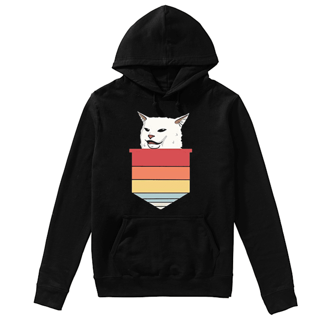 Angry women yelling at confused cat at dinner 2020  Unisex Hoodie