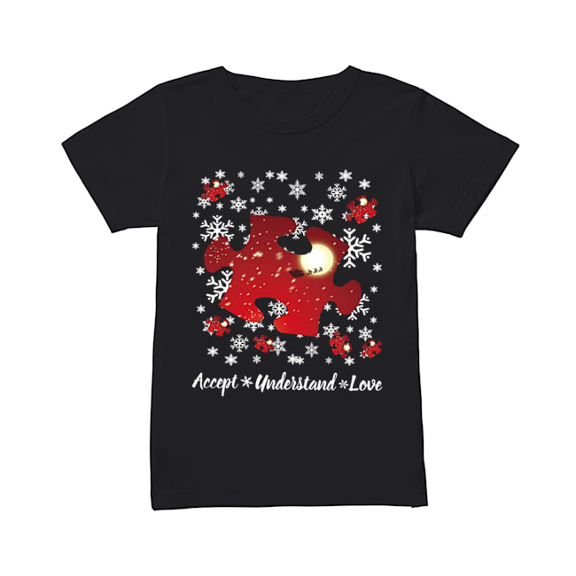 Autism Accept understand love Christmas  Classic Women's T-shirt