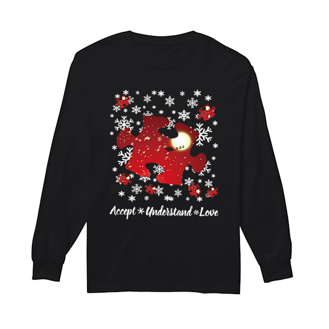 Autism Accept understand love Christmas  Long Sleeved T-shirt