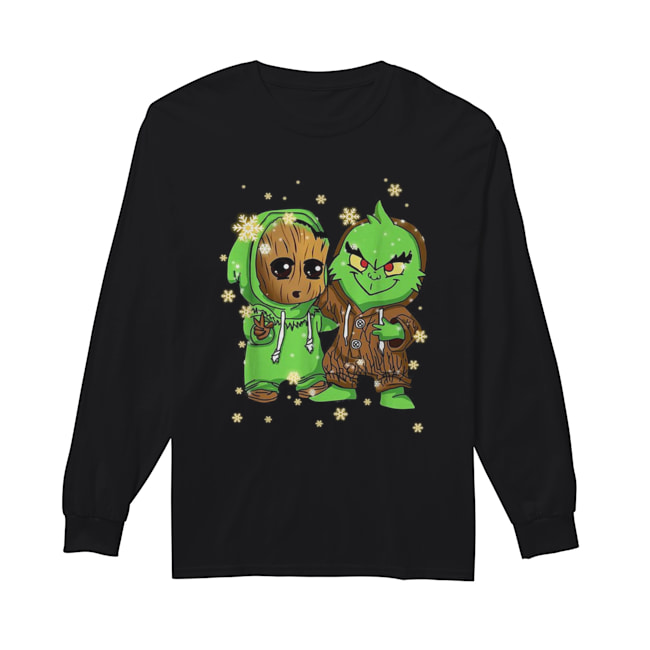 Baby Groot and Grinch Christmas  Long Sleeved T-shirt
