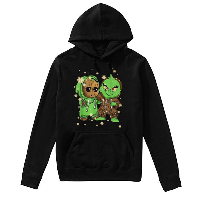 Baby Groot and Grinch Christmas  Unisex Hoodie