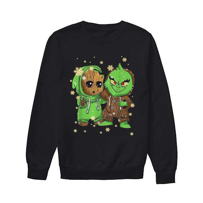 Baby Groot and Grinch Christmas  Unisex Sweatshirt