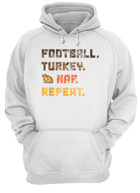 Beautiful Football Turkey Nap Repeat Thanksgiving  Unisex Hoodie
