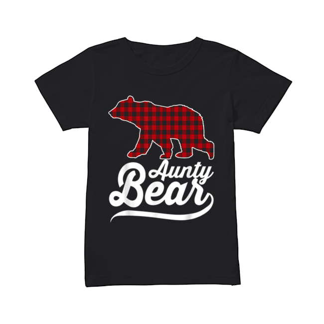 Beautiful Plaid Aunty Bear Christmas Pajama Family Ugly  Classic Women's T-shirt