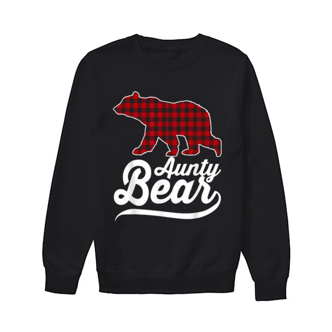 Beautiful Plaid Aunty Bear Christmas Pajama Family Ugly  Unisex Sweatshirt