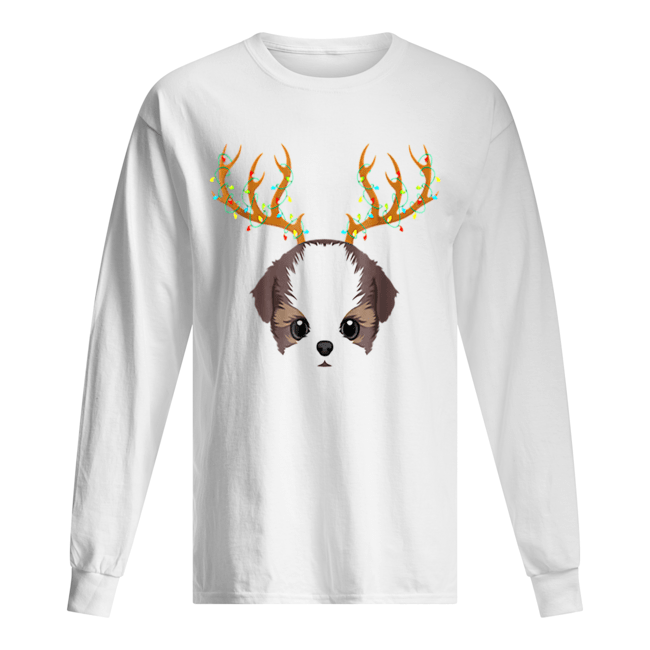 Beautiful Shih Tzu Christmas Lights My Christmas Pajama  Long Sleeved T-shirt