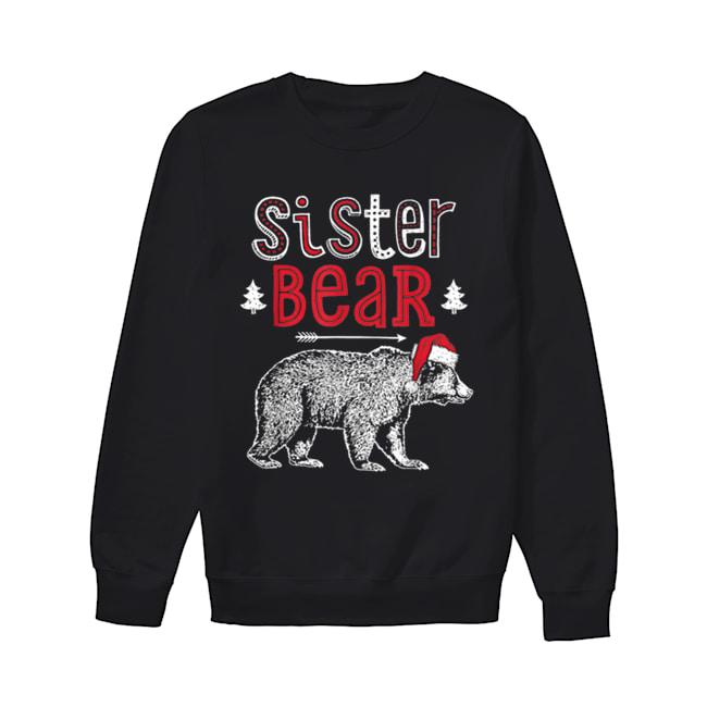 Beautiful Sister Bear Christmas Santa Family Matching Pajamas  Unisex Sweatshirt