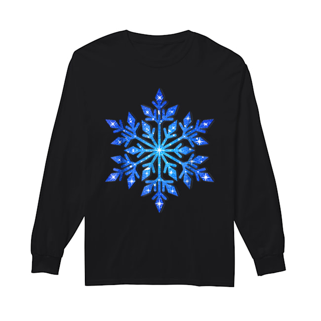 Beautiful Snowflake Winter Christmas Frozen Snow Gift  Long Sleeved T-shirt