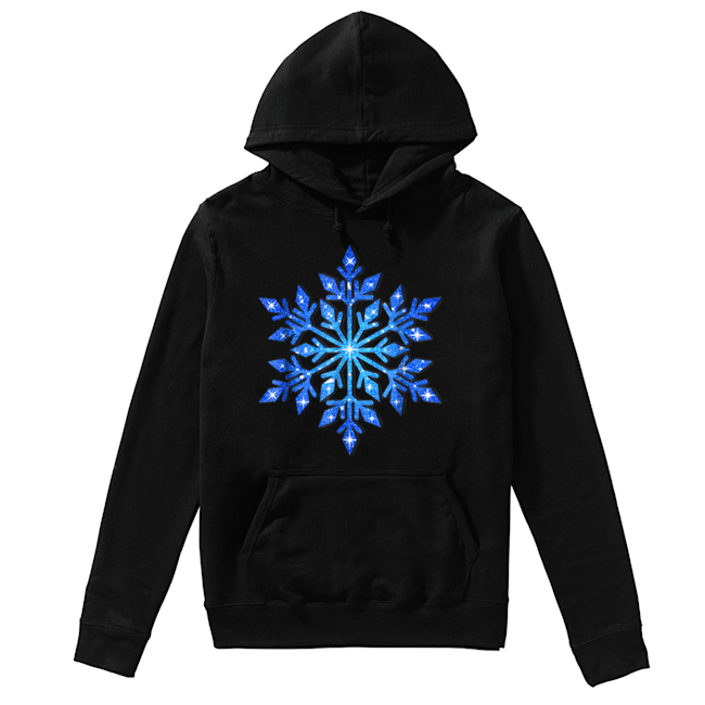 Beautiful Snowflake Winter Christmas Frozen Snow Gift  Unisex Hoodie