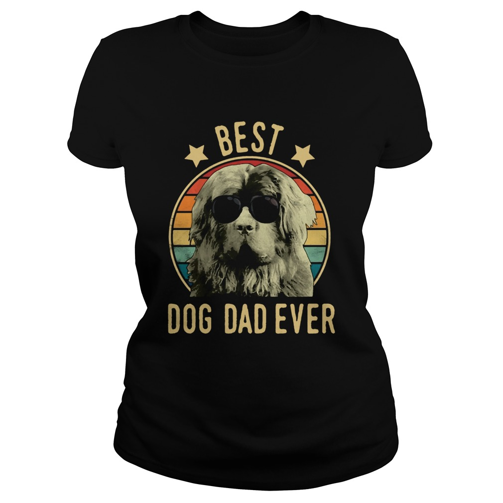 Best Dog Dad Ever Newfoundland Dog Vintage  Classic Ladies