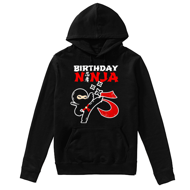 Birthday Ninja 5th Birthday 5 Year Old  Unisex Hoodie