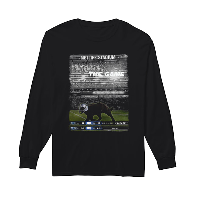 Black cat Metlife stadium player of the game Dallas Cowboys  Long Sleeved T-shirt