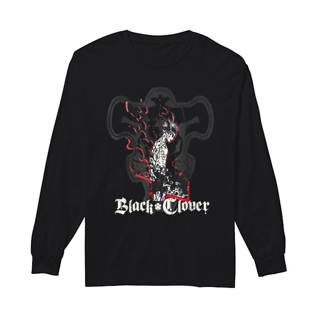 Black Clover Anime Asta Shadow  Long Sleeved T-shirt