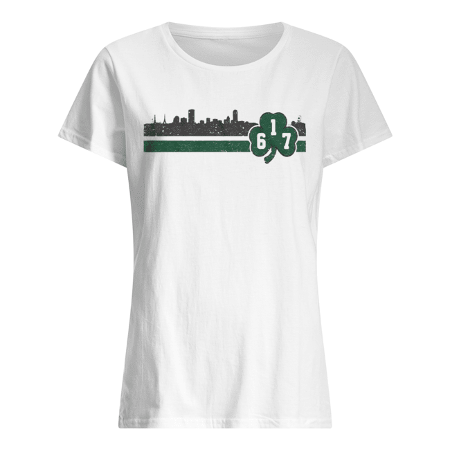 Boston 617 Shamrock Sideline  Classic Women's T-shirt