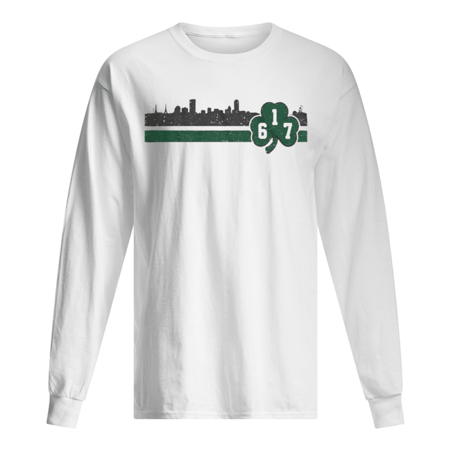 Boston 617 Shamrock Sideline  Long Sleeved T-shirt