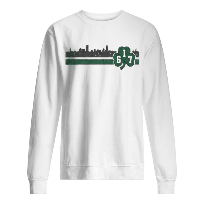 Boston 617 Shamrock Sideline  Unisex Sweatshirt