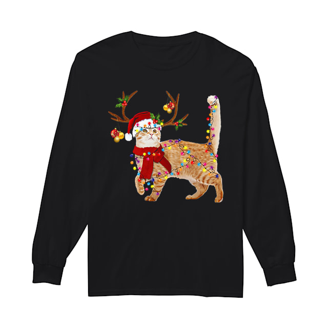 Cat gorgeous reindeer Christmas  Long Sleeved T-shirt