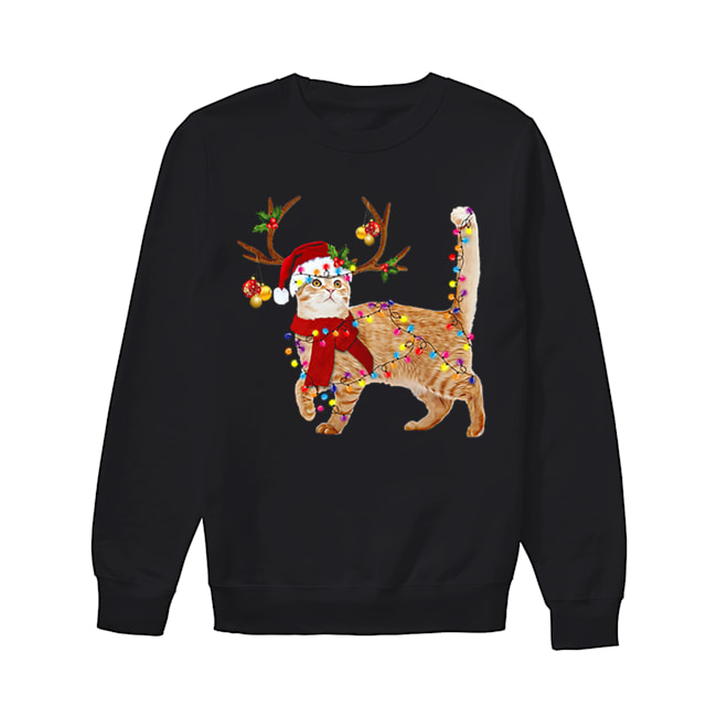 Cat gorgeous reindeer Christmas  Unisex Sweatshirt