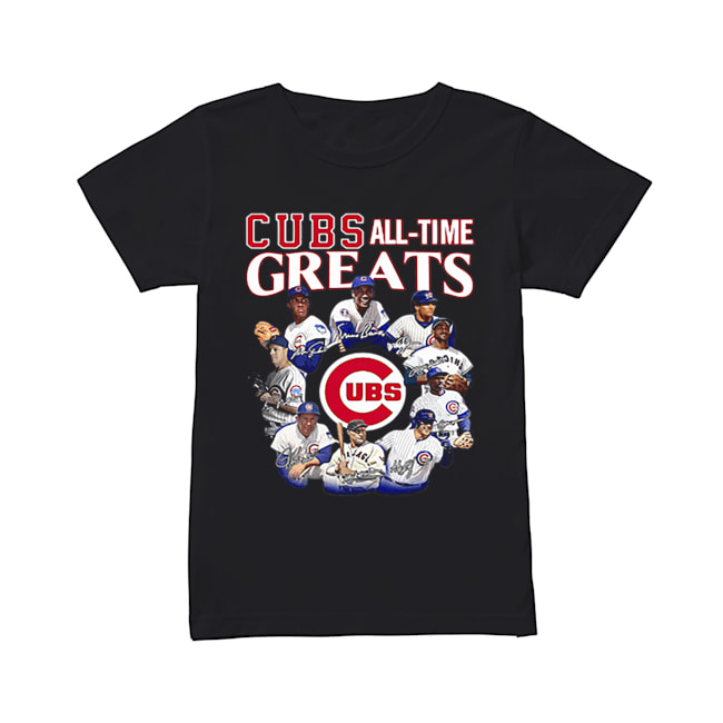 Chicago Cubs all time Greats team players signatures  Classic Women's T-shirt