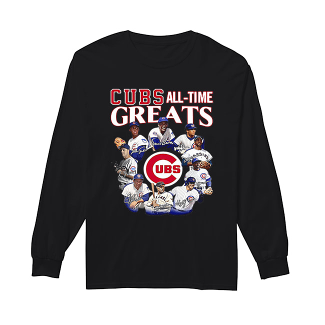 Chicago Cubs all time Greats team players signatures  Long Sleeved T-shirt