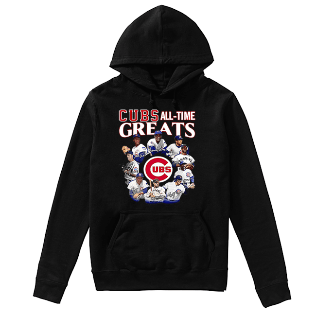 Chicago Cubs all time Greats team players signatures  Unisex Hoodie