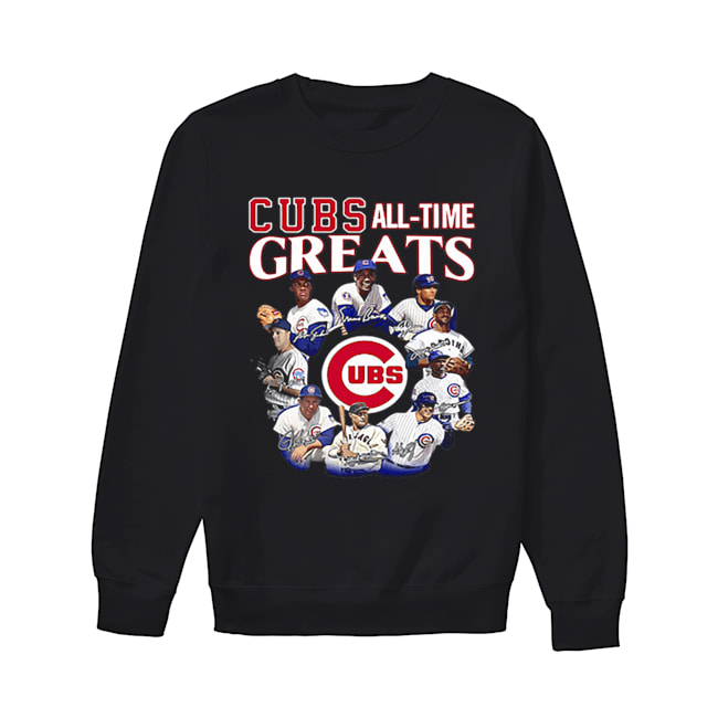 Chicago Cubs all time Greats team players signatures  Unisex Sweatshirt