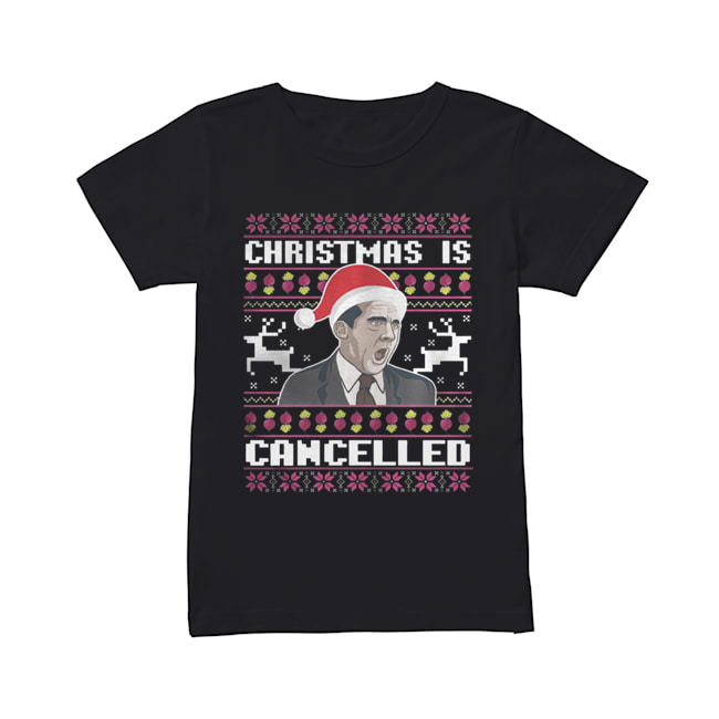 Christmas Is Cancelled Michael Scott  Classic Women's T-shirt
