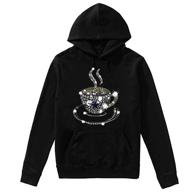 Coffee Dallas Cowboys rhinestone  Unisex Hoodie