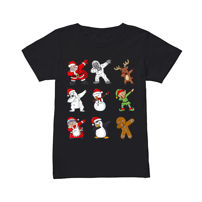 Dabbing Santa Claus And Friends Christmas  Classic Women's T-shirt