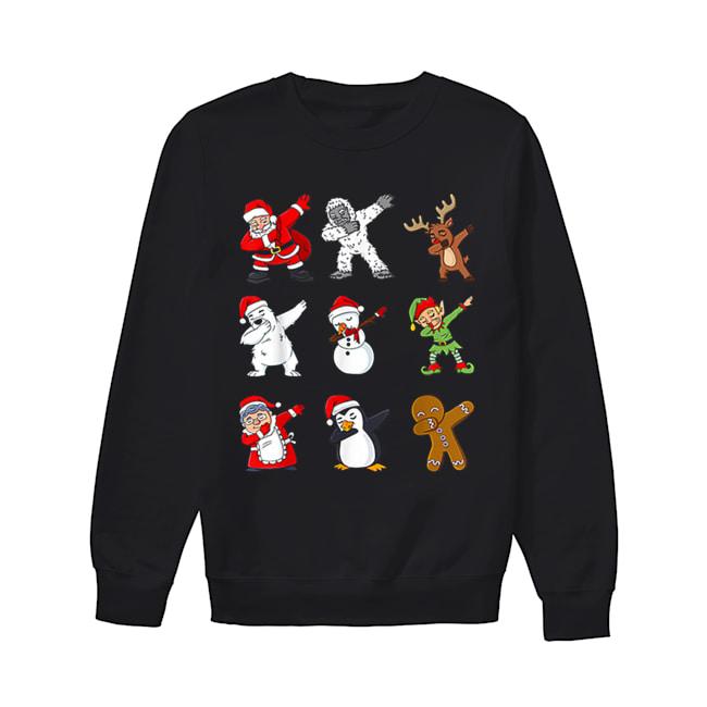 Dabbing Santa Claus And Friends Christmas  Unisex Sweatshirt