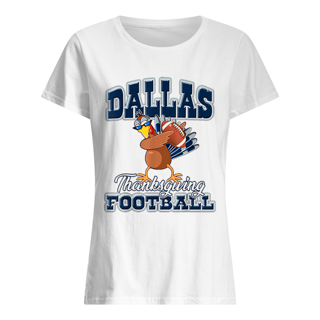 Dallas Cowboys Thanksgiving Day Turkey Playing Football  Classic Women's T-shirt