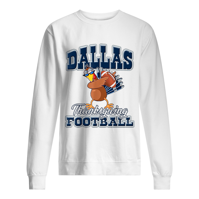 Dallas Cowboys Thanksgiving Day Turkey Playing Football  Unisex Sweatshirt