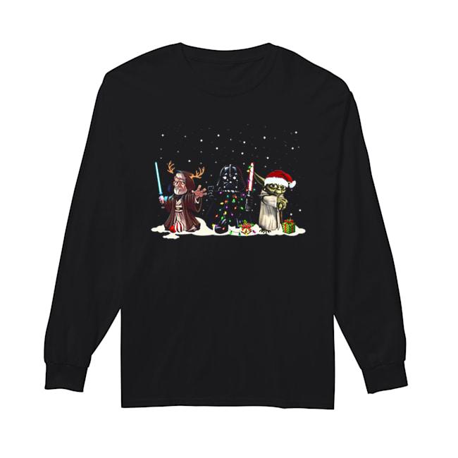 Darth Vader Yoda Palpatine Star Wars Christmas  Long Sleeved T-shirt