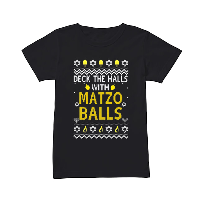 Deck the halls with matzo balls Christmas 2020  Classic Women's T-shirt