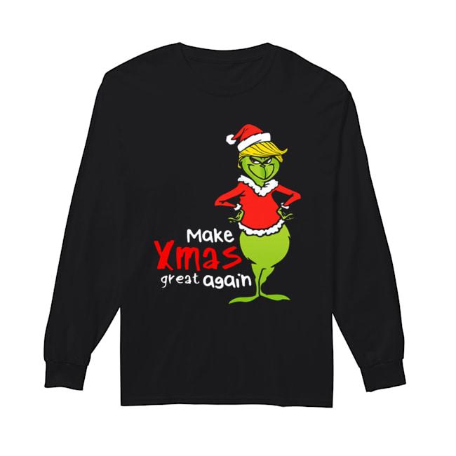 Donald Trump Grinch make xmas again christmas  Long Sleeved T-shirt