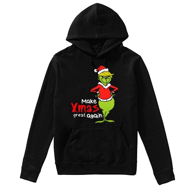 Donald Trump Grinch make xmas again christmas  Unisex Hoodie