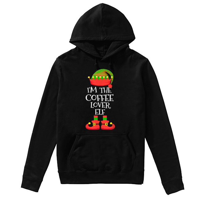 'M THE Coffee Lover ELF Christmas Xmas Elf Group Costume  Unisex Hoodie