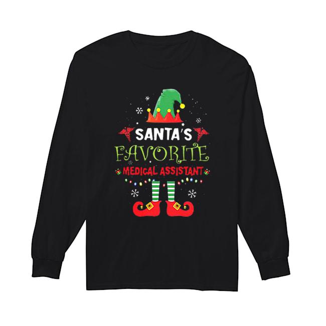 Elf Santa's favorite medical assistant  Long Sleeved T-shirt